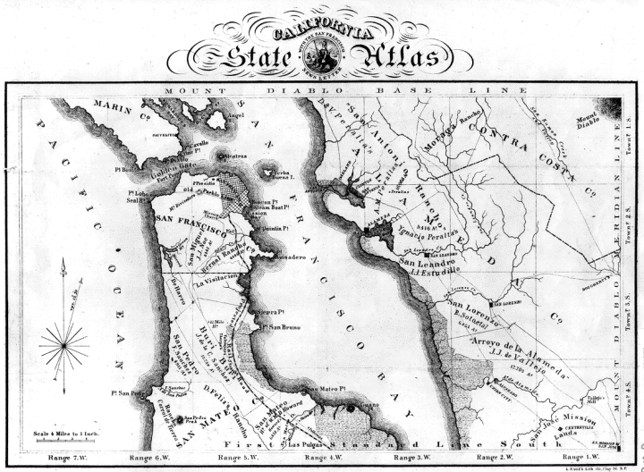 1860 Bay Area Map