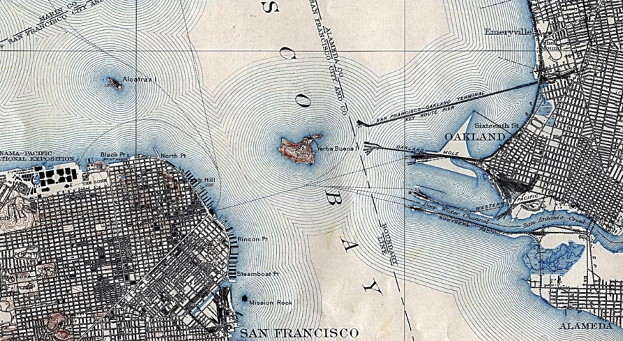 1915 SF Bay Map