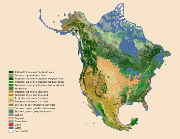 2005 North American Crop Land