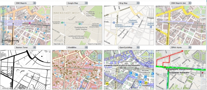 8 Maps Karlsruhe