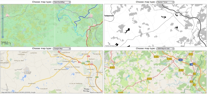 Comparing Info Foregrounded in Mapped Landscapes in Germany