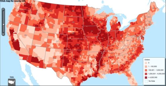 DCS map USDA