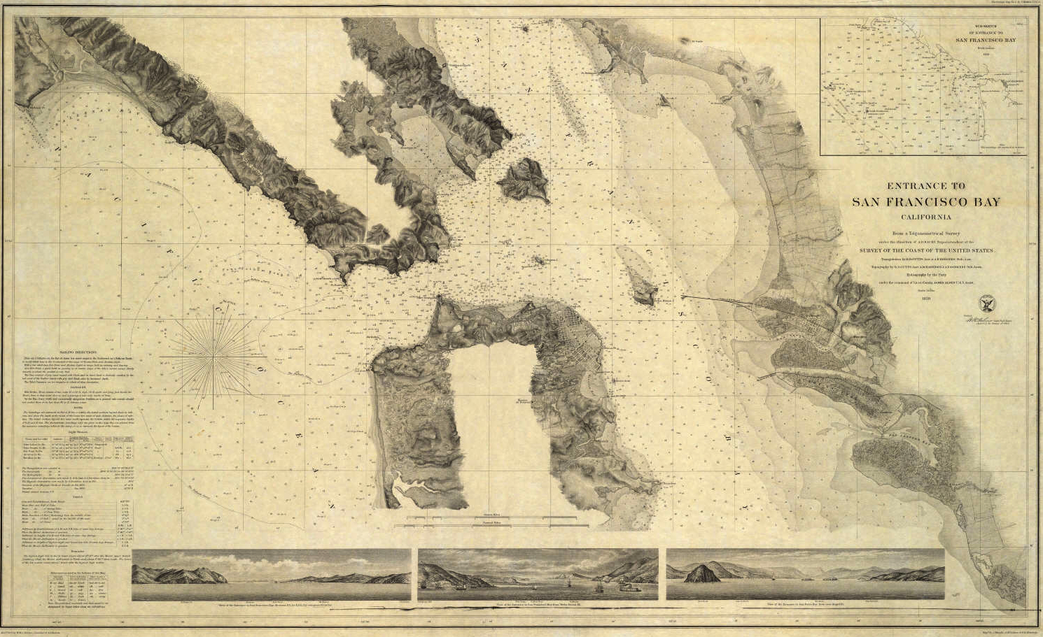 Depth Charges of the Waters in SF- 1869 Coastal Survey