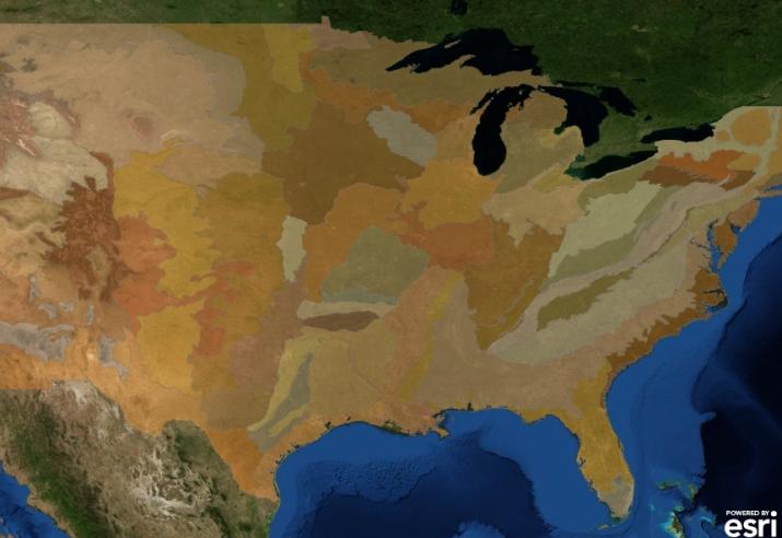 esri ecoregions USA