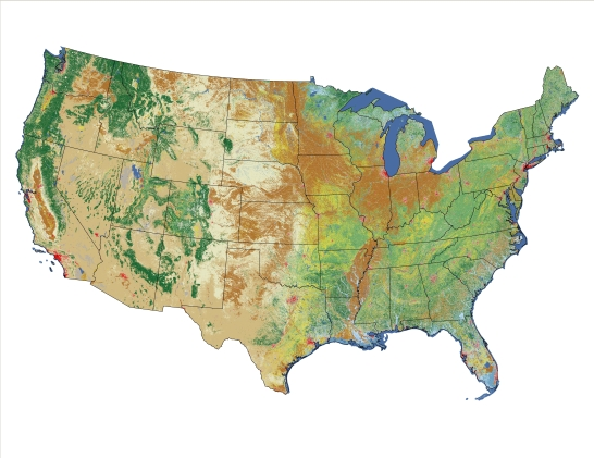 Landcover 2001 map