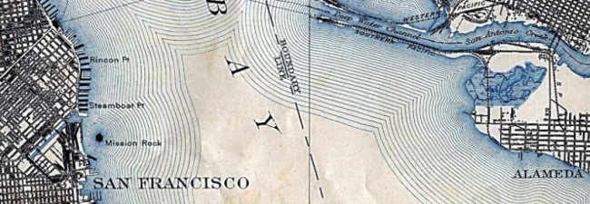 Mission Rock in SF Bay 1918