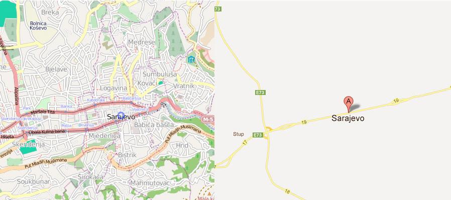 Sarajevo OSM Google