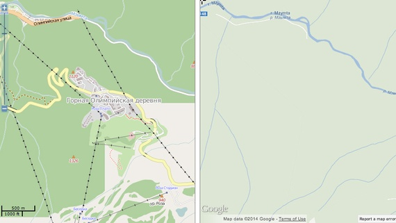 Sochi Ski Center Mapped