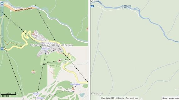 Sochi Ski Center Mapped