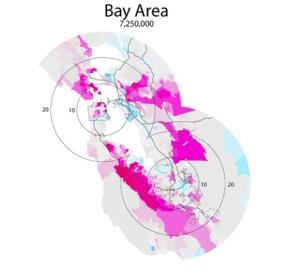 William Rankin's Income Donut of the Bay Area (2006)