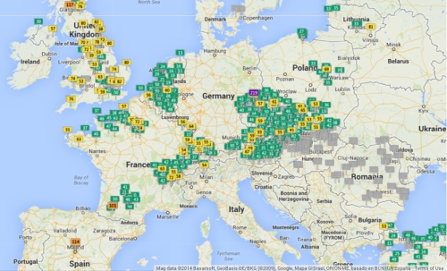 %22Europe%22 in Air Pollutedness