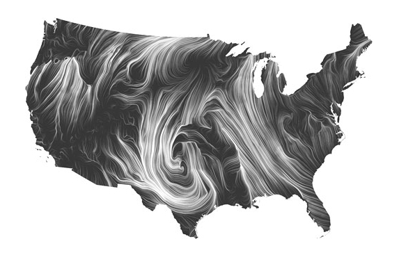 Wind Map website image
