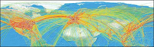 Air Travel Map 2