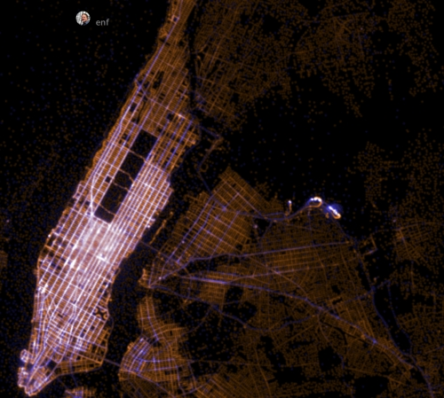 Big Mapping NYC Taxi Trips from Open Data