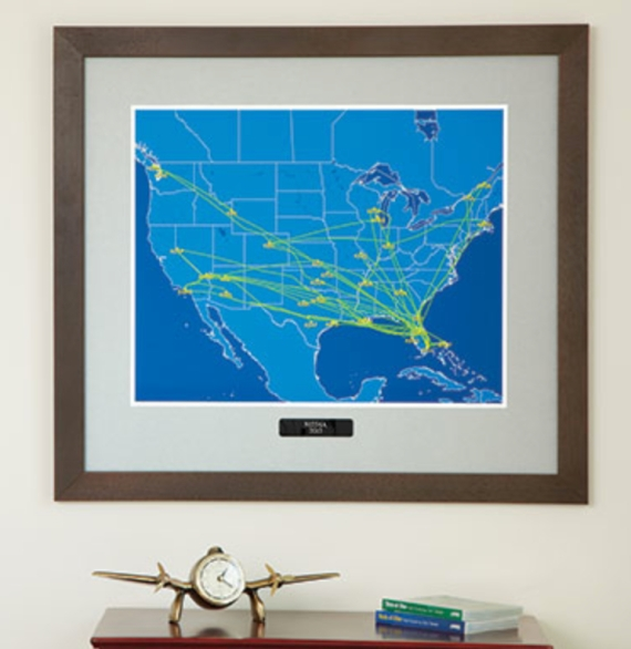 Flight Aware Framed Map