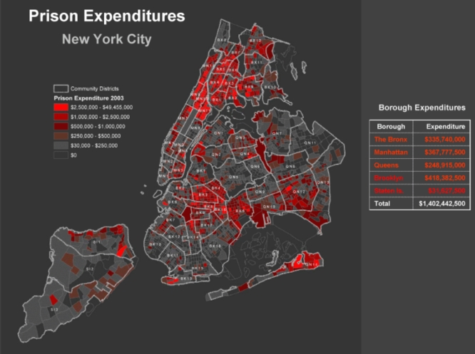 Mapping PRison Expenditures by Incarcerated