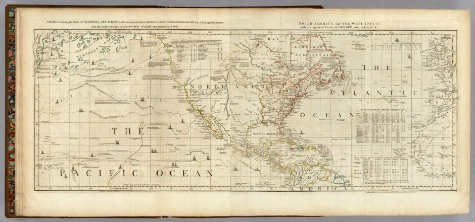 North America with the Opposite Coasts 1775 London