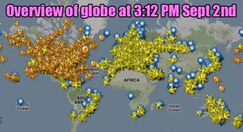 Setp 2 Flights over world