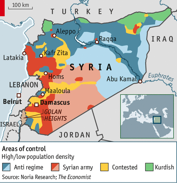 Syria divided in Economist April 19 2014