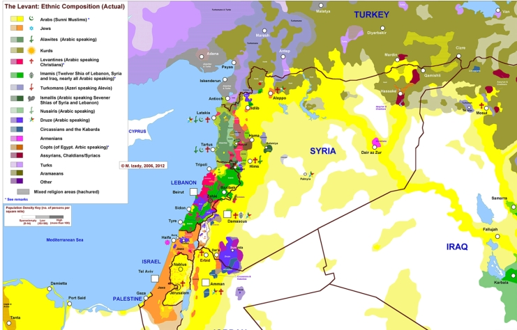 Levant Map of Ethnicities