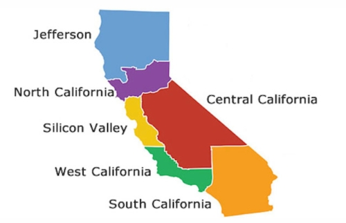 New Map of California