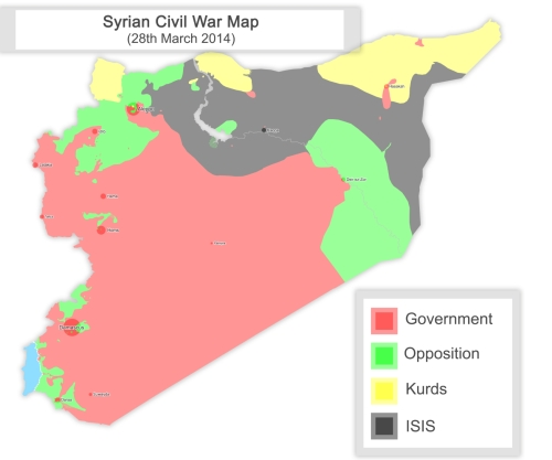 Syrian Civil War March 14