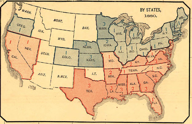 mapping secession of Southern states | Musings on Maps