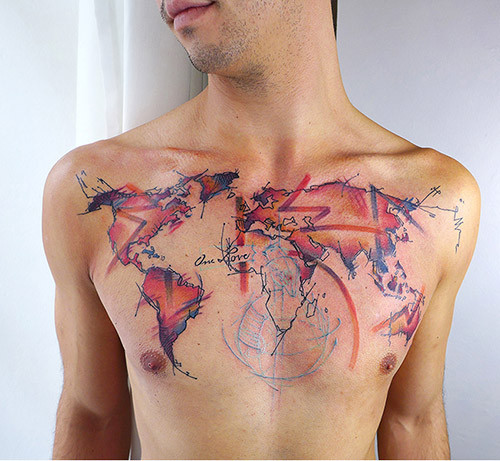 Tattoo maps musings on maps given the popularity of the heart shaped sign as an almost plastic tattoo not only a currently fashionable but a compellingly popular graphic to inscribe gumiabroncs Choice Image