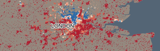 Jewish in London--Blue high %