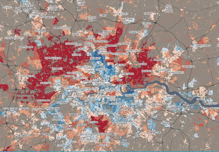 London--Data Shine %22No Religion%22 25.4% average