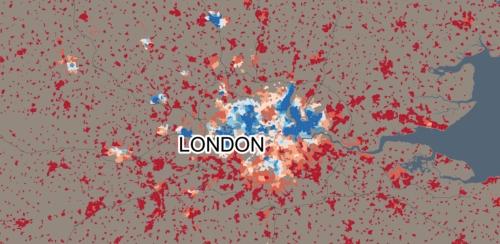 Muslim London, blue 100%