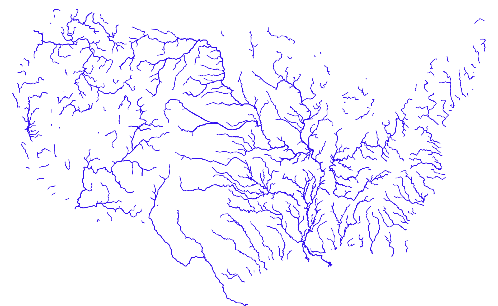 Megadrought Musings On Maps - Us map with rivers