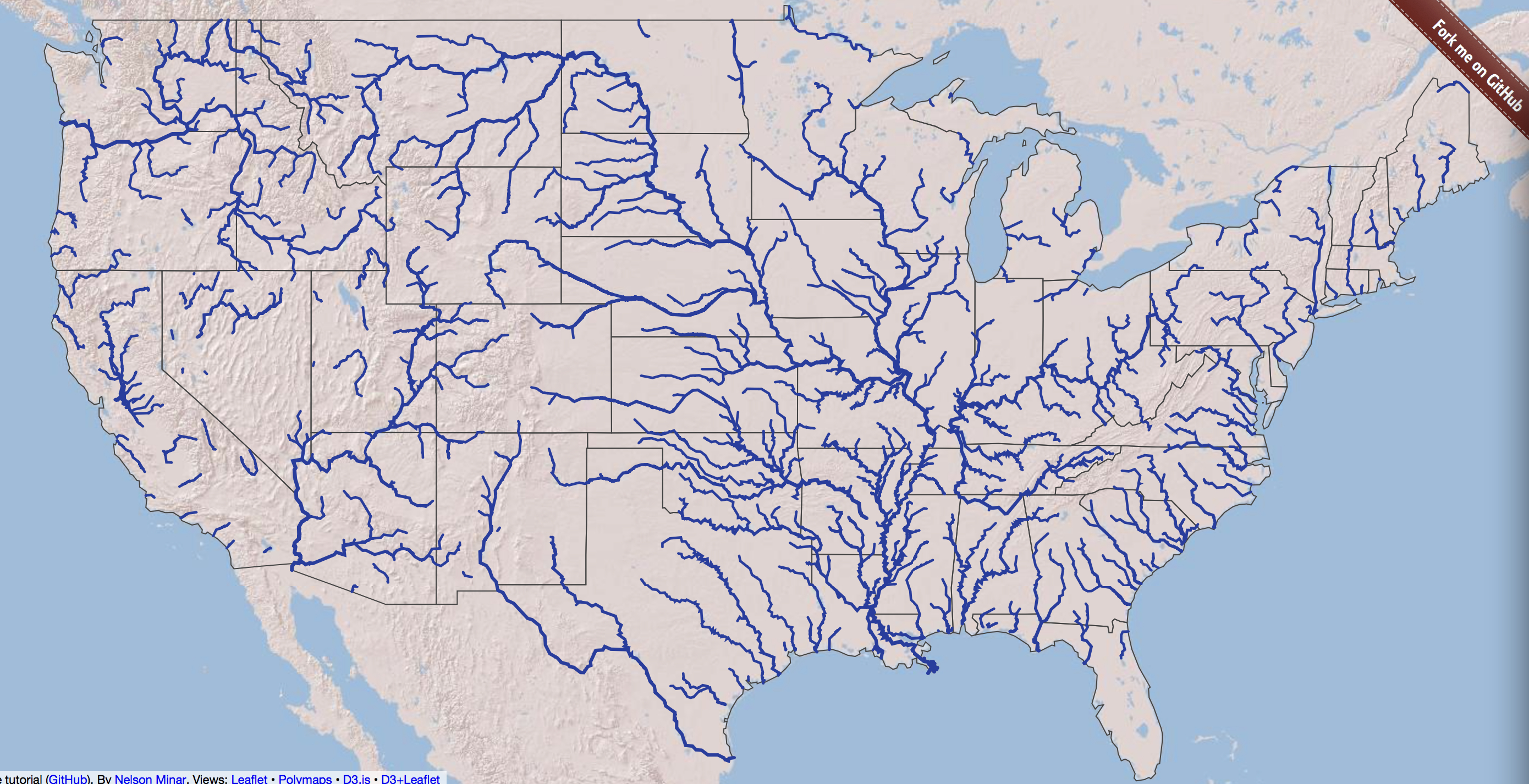 Navigable Inland Waterways Global Climate Change Impacts In The - Us map with rivers