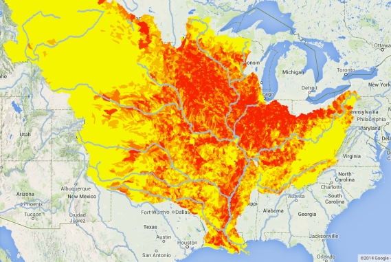 Watersheds of High N Pollution