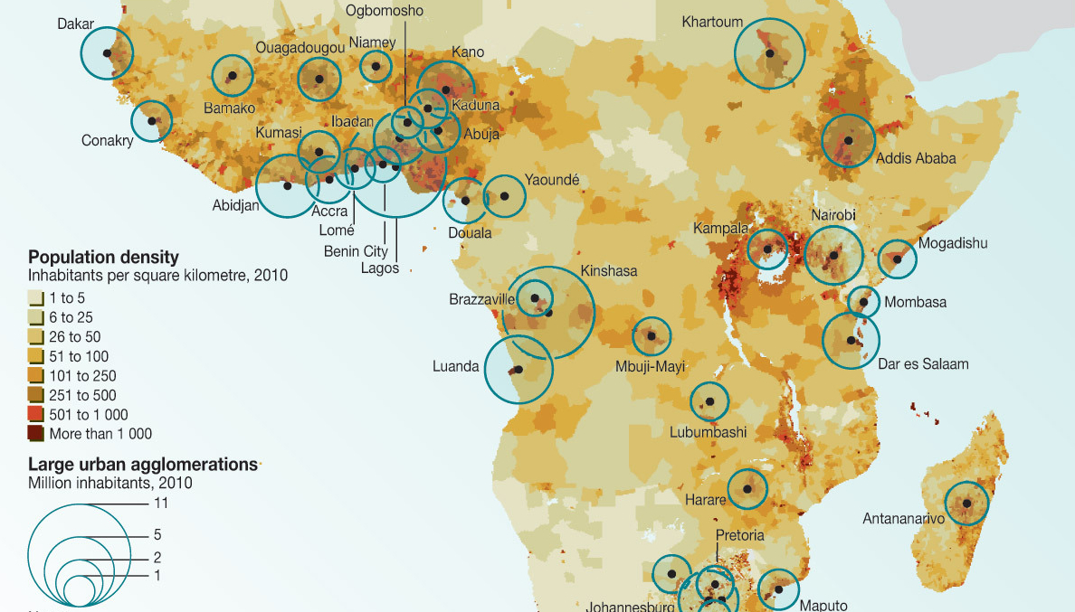 West African Urban Agglomerations, 2011