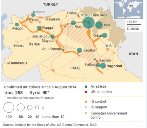Airstrikes Map