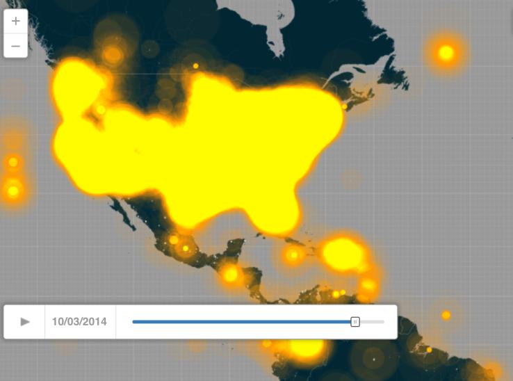 October 3 Twittermap