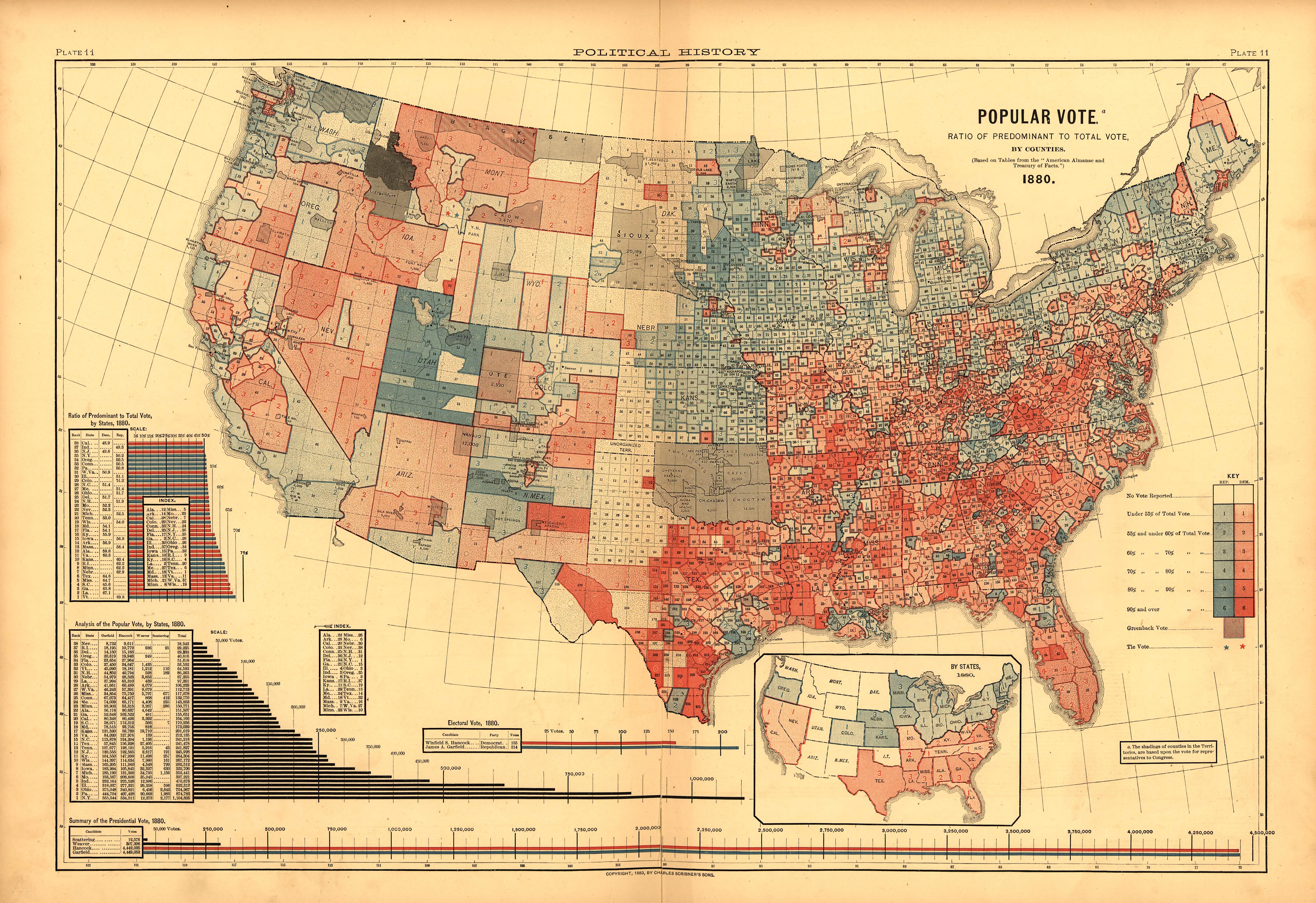 1880 popular vote for HG