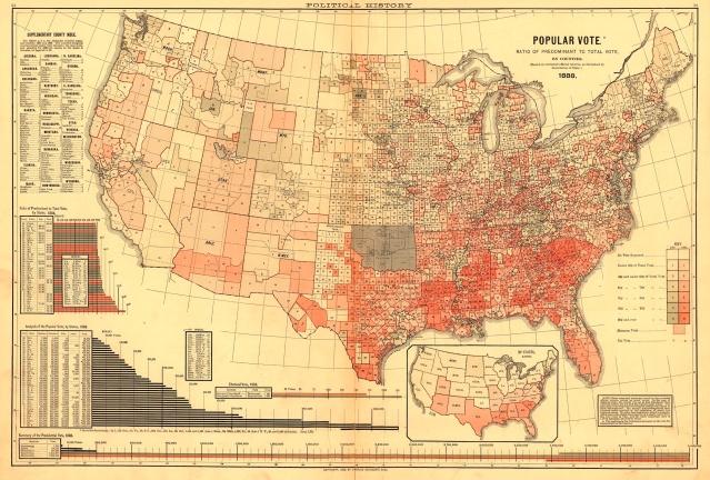 1888 ratio map to predominant vote