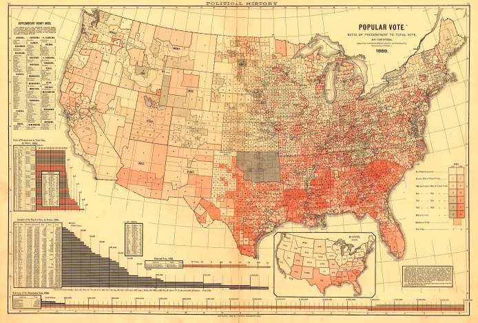 1888 ratio map to predominant vote