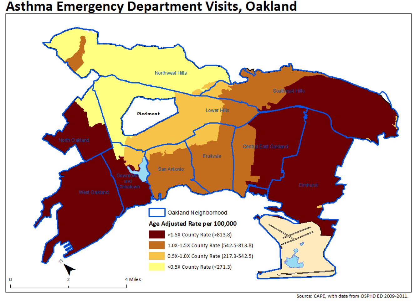 asthma emergency visits