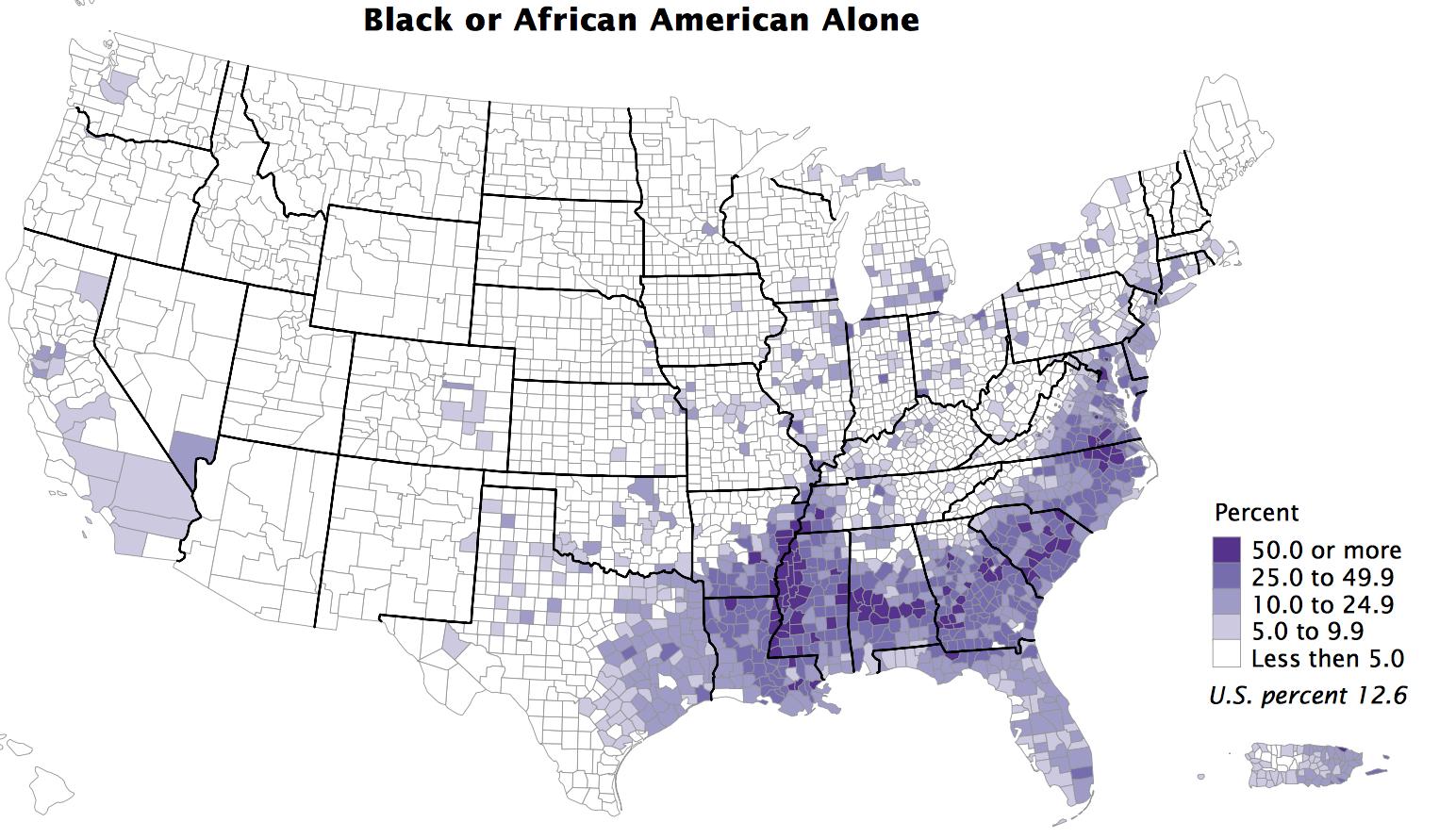 Black non-Hispanic 2010 census