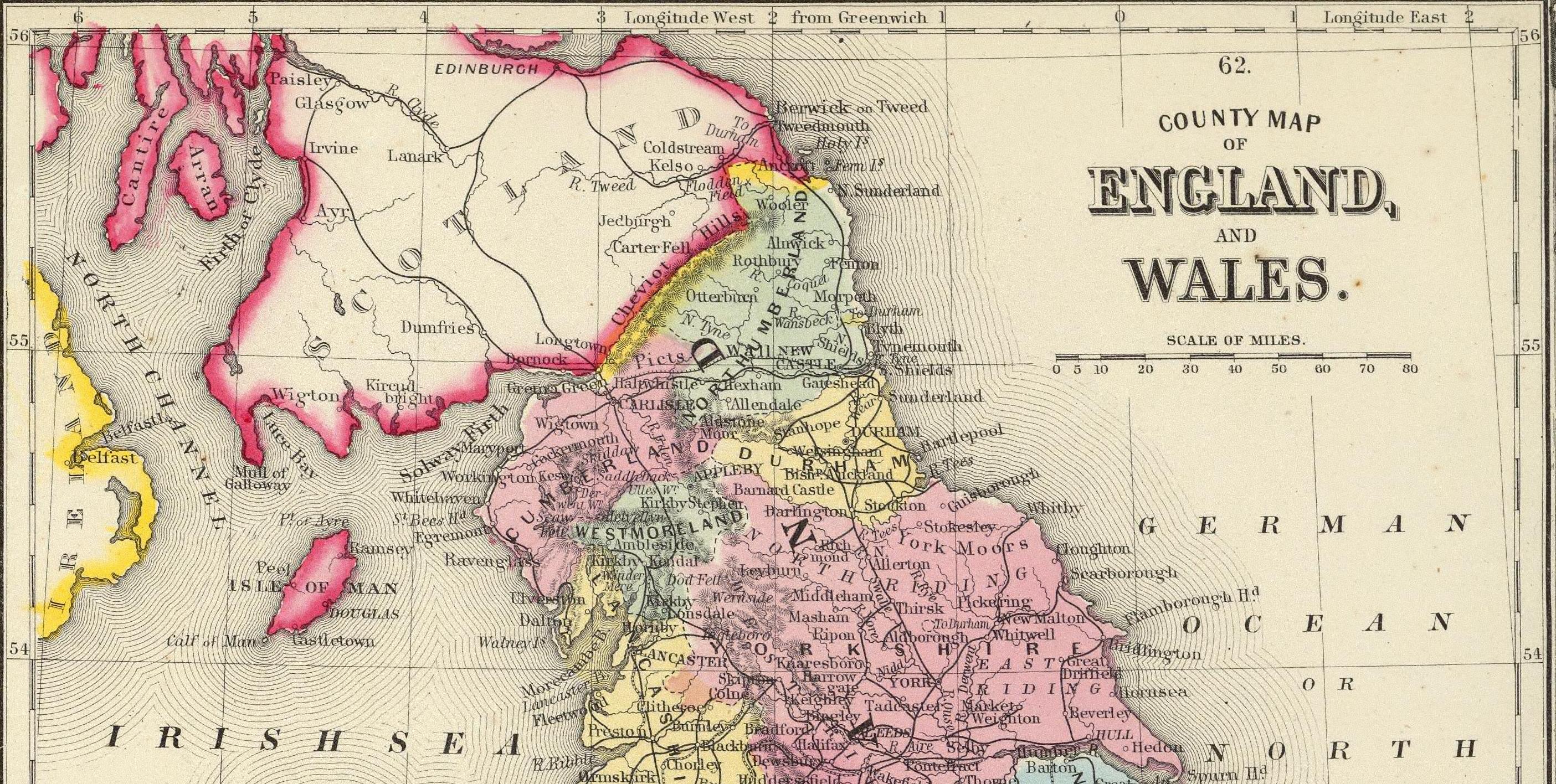 Cheviot Hills Divide Scotland 1860