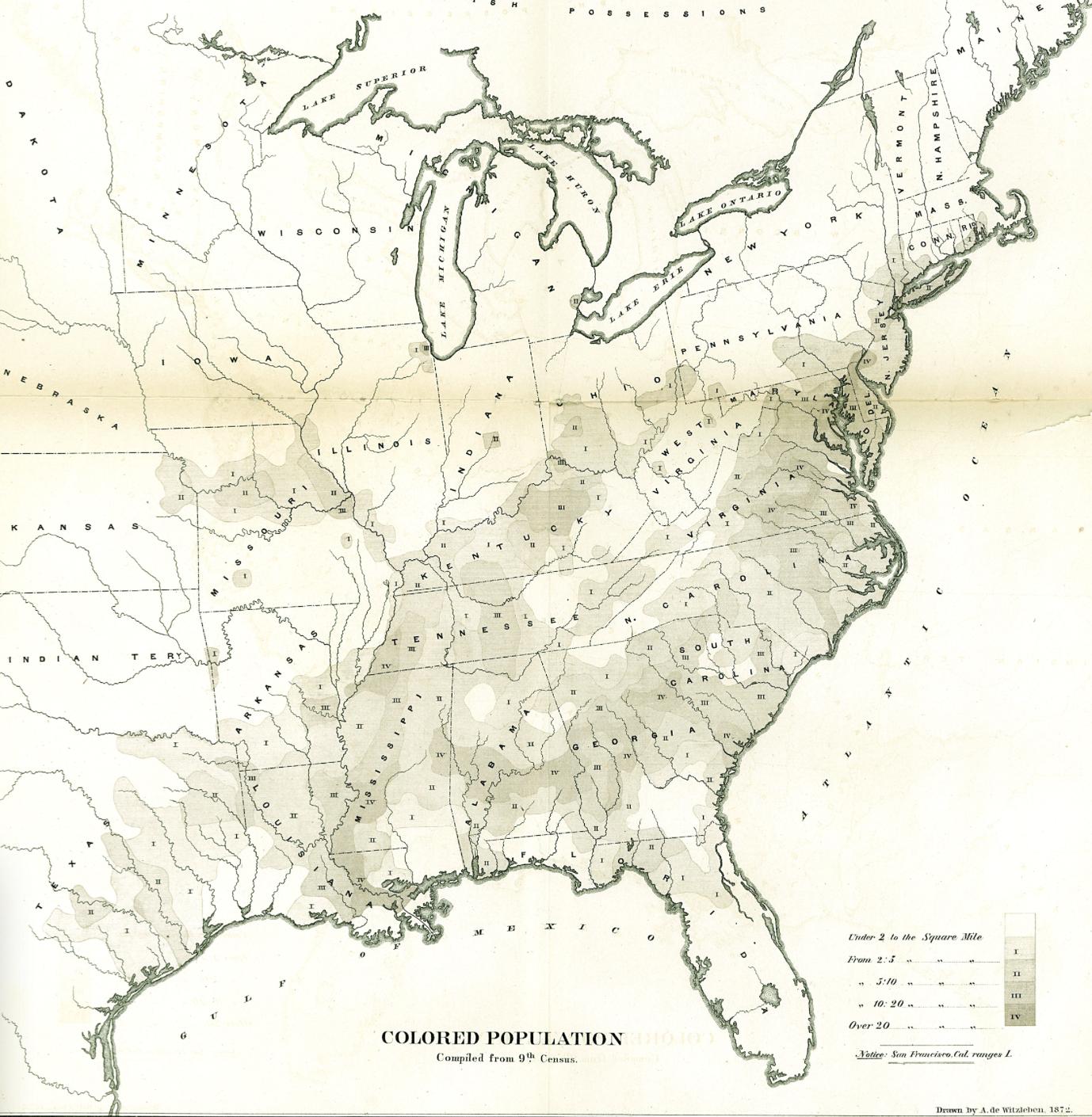 Colored Population 1872