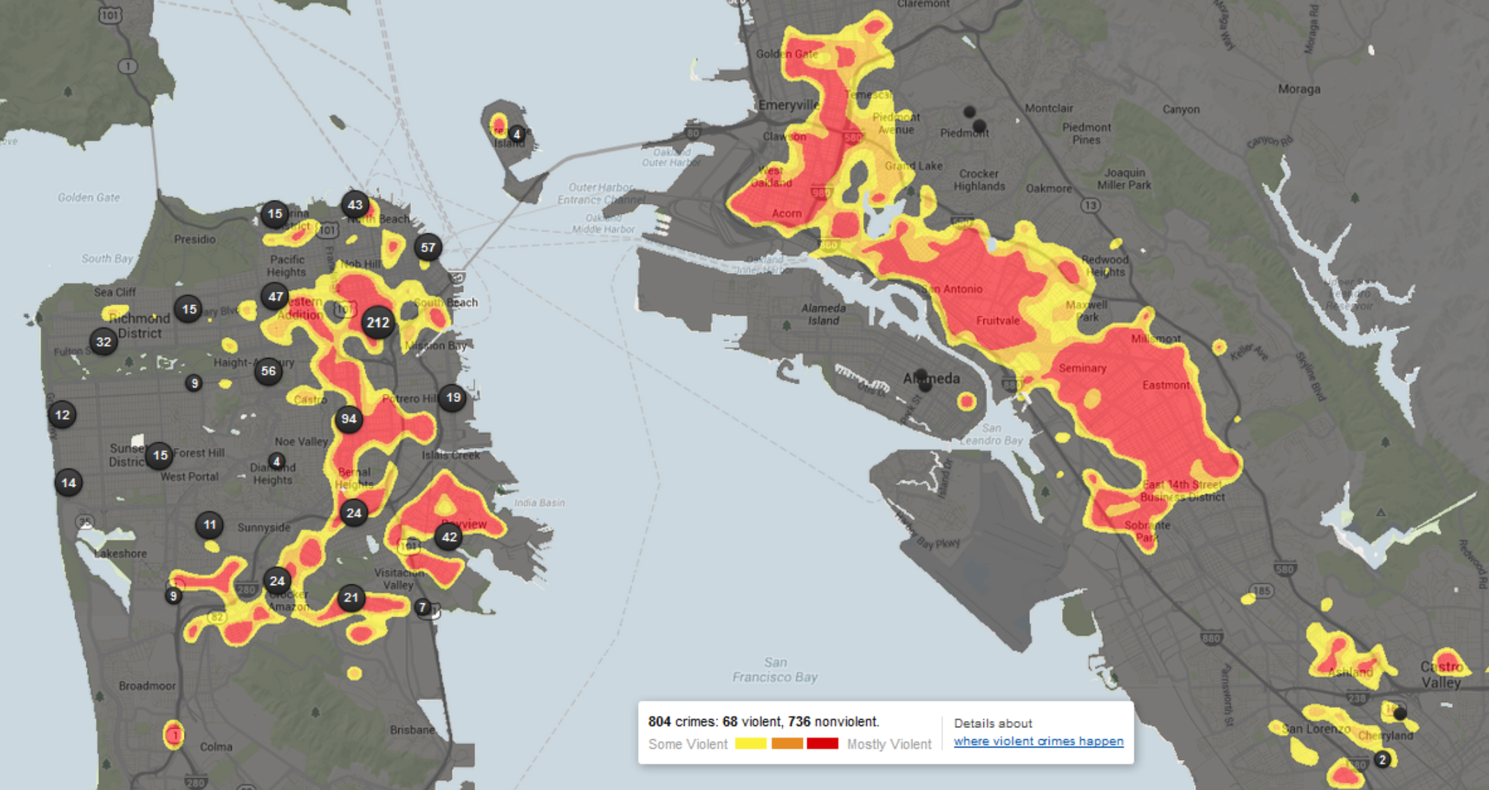 heat map violent crime