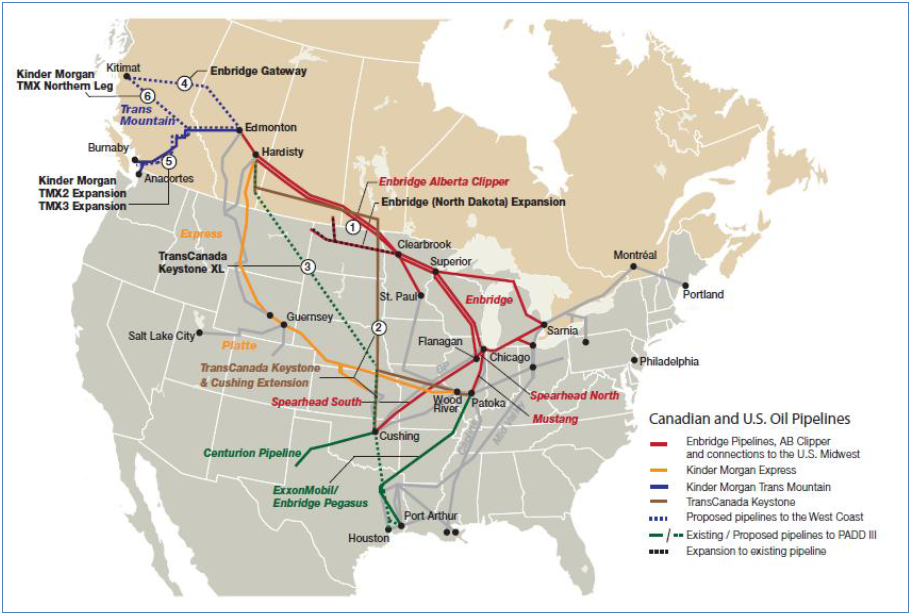 Gas Oil Pipelines Musings On Maps - Pipelines in us map