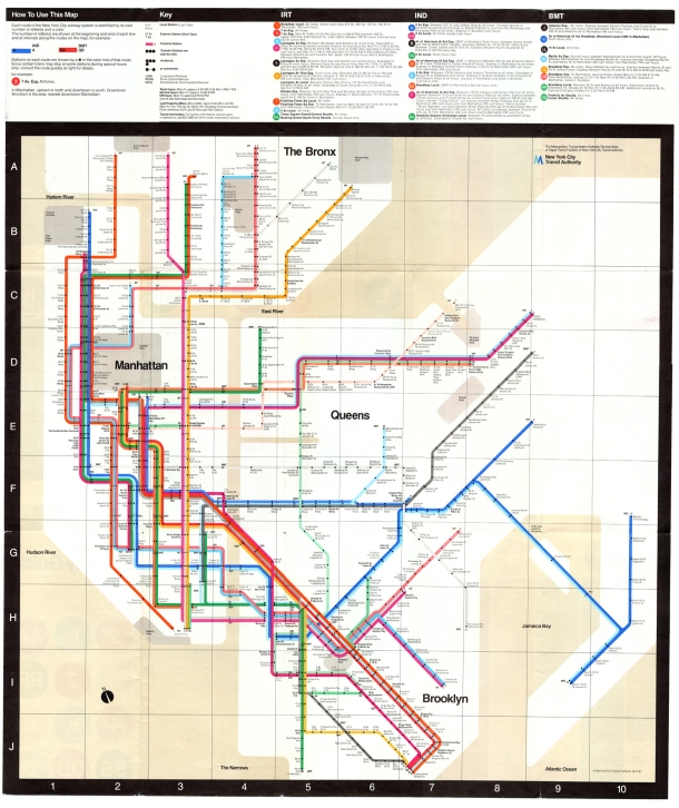 M Vignelli maps subway system_1972