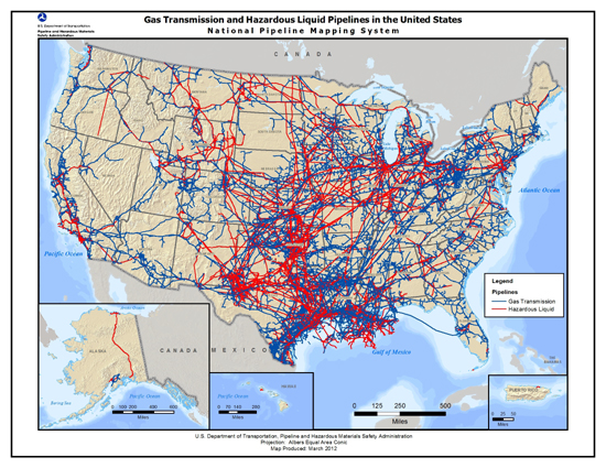 Oil Pipelines Musings On Maps - Map of us oil pipelines