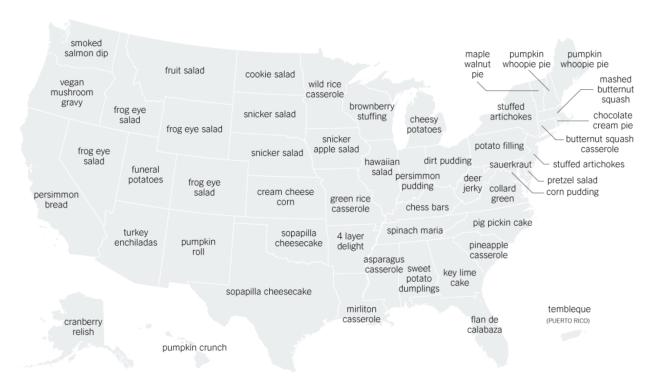 Thanksgiving Menu Map