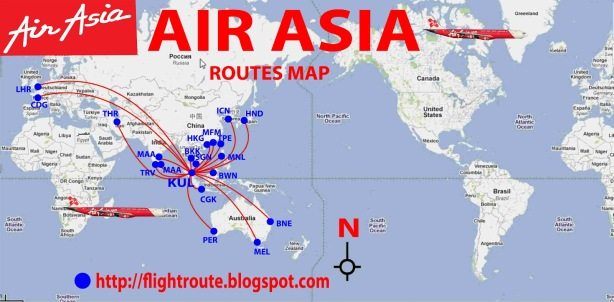 Air Asia routes map
